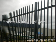 High quality hot dipped galvanized or powder coated steel palisade fence