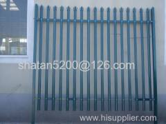 High quality and low price hot dipped galvanized and pvc coated palisade fence