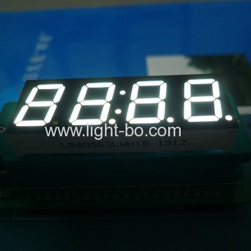 Ultra White 4 Digit 7 Segment LED Display 0.56common cathode for instrument panel