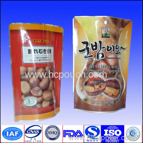 NY/PE stand up pouch packaging for snack with competive price