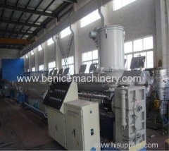 Plastic pipe extrusion line for water pipe