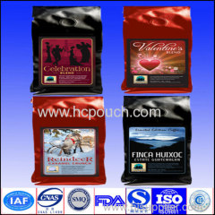 Laminated Aluminum Foil Doypack Coffee Bags with Degassing Valve