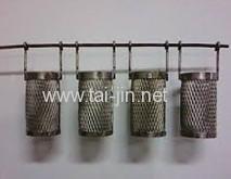 Titanium anode basket for chemical equipment