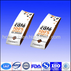 resealable coffee package with valve