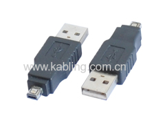 USB 2.0 Adapter Type A Male to Type B Mini 4P