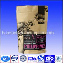 ziplock coffee package with valve