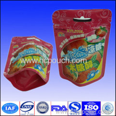 Custom plastic printing candy stand up bag