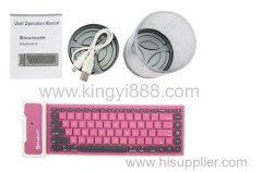 flexible bluetooth keyboard for tablet pc