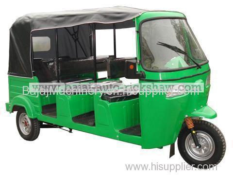 Bajaj Auto Rickshaw 3 rows seats passenger motor tricycle