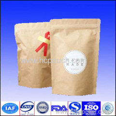 foil lined stand up kraft paper packing bags