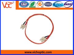 SC to SC multimode indoor duplex optical fiber patch cord