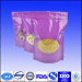Doypack stand up plastic food packaging bag with zipper