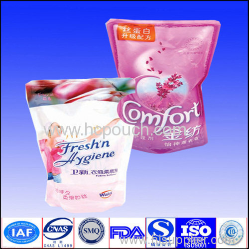 1L/2L/5L stand up pouch for detergent with tear notch