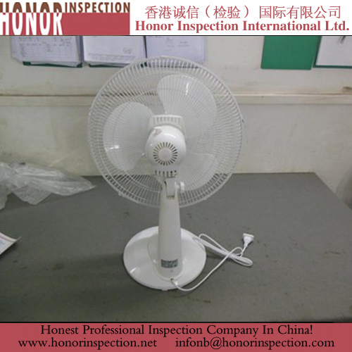 Pre ShipmentInspection Services for Desk Fan