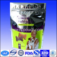 Plastic printed metalized stand up pouch