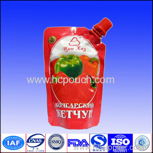 plastic stand up fruit pouch with spout