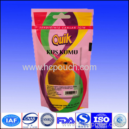 100g stand up food bag with tear notch or zipper