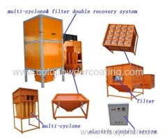 Cyclone recovery powder booth