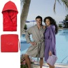 microfiber suede bath robe ( microfiber spa robe / bathrobe)