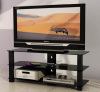 Modern bedroom furniture glass TV stand