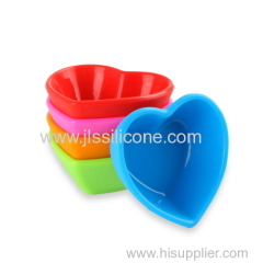Lovely Heart-shaped Design Silicone Sushi Plates