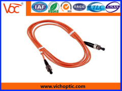Standard ST to ST MM optical fiber indoor patch cord