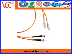 China supplier ST to SC multimode indoor optical fiber patch cord