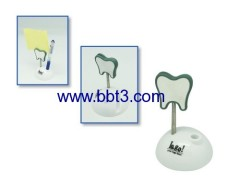 Promotional tooth shape pen holder with memo holder