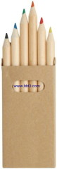 Eco-friendly recycle paper box natural pencil