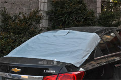 Silver color car windscreen cover