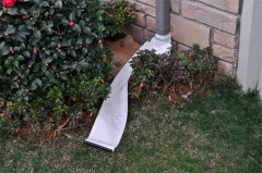 Drain Away Down Spout Extender_White