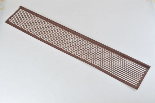 6-5/8 inch x 3 foot Plastic Gutter Guard_Brown