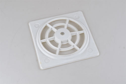White Plastic Exhaust Fan Grill