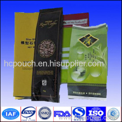 printed side gusseted pouch for food
