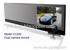 720P HD Car DVR Camera with dual lens