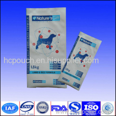 pet food side gusseted pouch bag