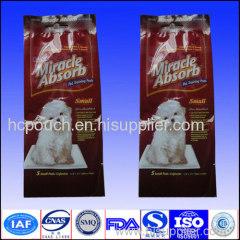 pet food side gusseted package