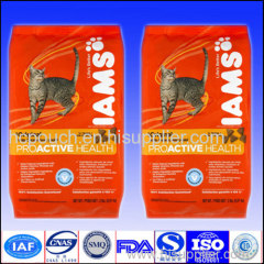 cat food side gusseted package