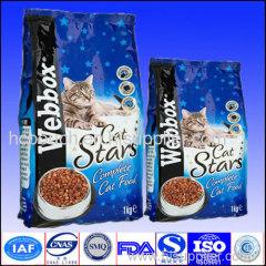 cat food side gusseted package bag