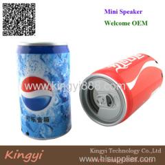 Pop can speaker portable speaker