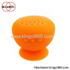 Mushroom design bluetooth mini speaker with suction cup