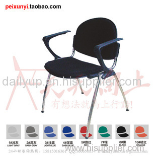 modern elegant fashion PP stacking chair with writing tablet