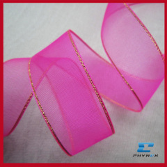 Soft Sheer Ribbon With Metallic Edge