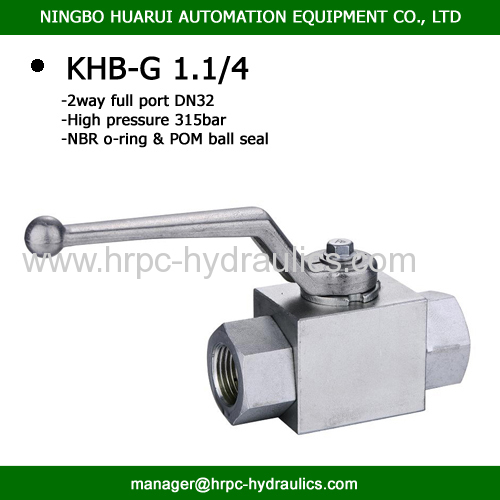 2 x female bsp1.1/4  dn32 hydraulic steel pressure ball valve WOG 5000psi