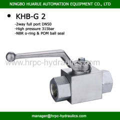 2 inch full port high pressure WOG 5000 hydraulic steel ball valve