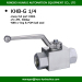 BKH-G1/4 2 way ball valve BSP 1/4inch carbon steel hydraulic operated ball valves high pressure 500bar