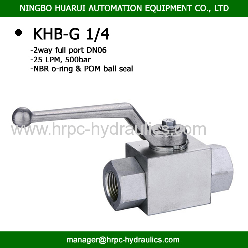 2 way ball valve BSP 1/4inch carbon steel hydraulic operated ball valves high pressure 500bar