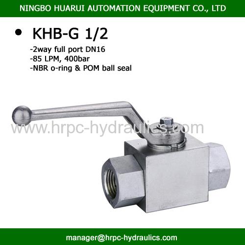 2 way female BSP 2 x 1/2  steel full port ball valve WOG 7250psi