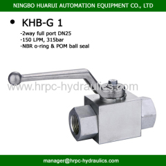 BKH-G1 Buy good female threaded hydraulic ball valve 2 way full port high pressure 5000psi