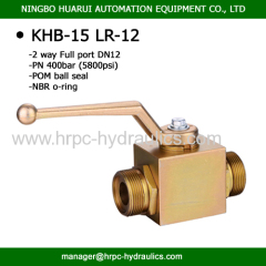 BKH series high pressure 2 way LR thread M22x1.5 carbon steel ball vavle China manufacturer